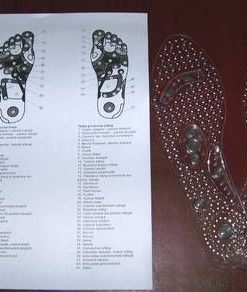 Talpi din silicon transparent cu magenti - marimea 35-40