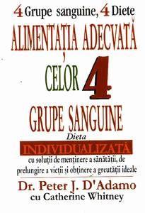 4 grupe sanguine, 4 diete