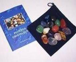 Saculet cu 15 cristale (piatra mare)